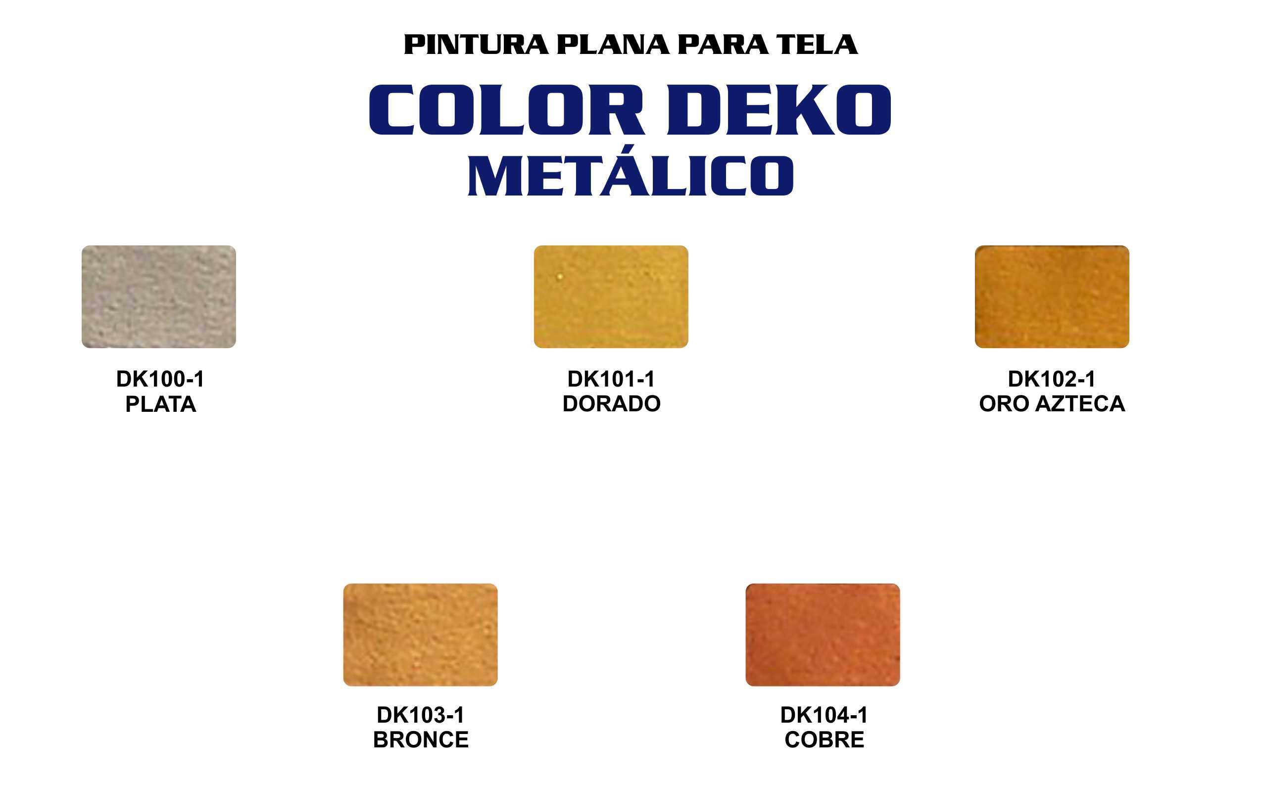 CARTA COLORES DEKO METALICO