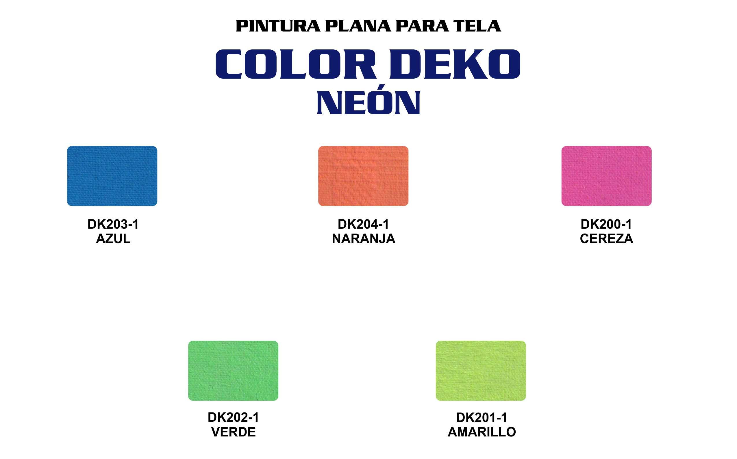 CARTA COLORES COLOR DEKO NEON